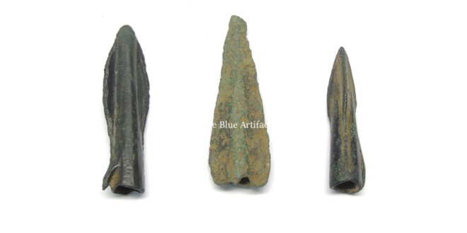A Set of Bronze Socketed Arrowheads