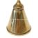 A Brass Coned Miners Oil Lamp