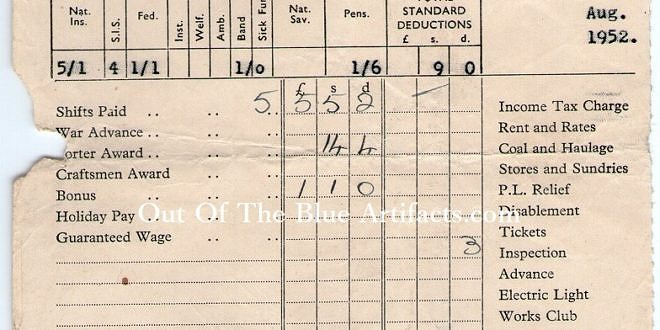 Roseheyworth Colliery Abertillery – Wages Docket