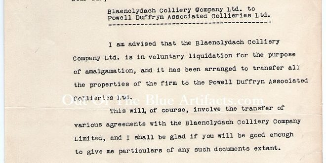 Great Western Railway – Notice of Change of Colliery Ownership