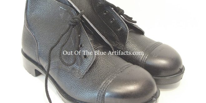 N.C.B. Black Thick Leather Outer Steel Toe-Cap Ankle Boots