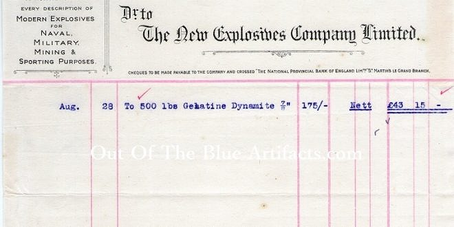 The New Explosives Company Limited – Invoice