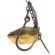 A Brass Oil and Wick Hanging Miners Lamp