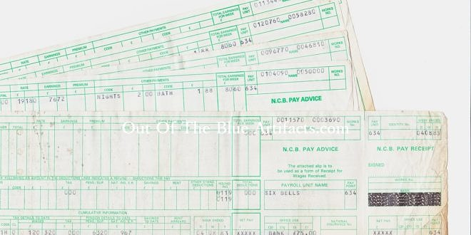 Six Bells Colliery Abertillery – Wages Dockets