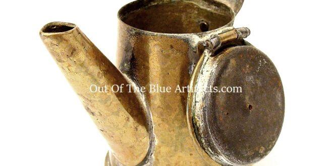 "A Miners ""Teapot"" Oil Cap Lamp"