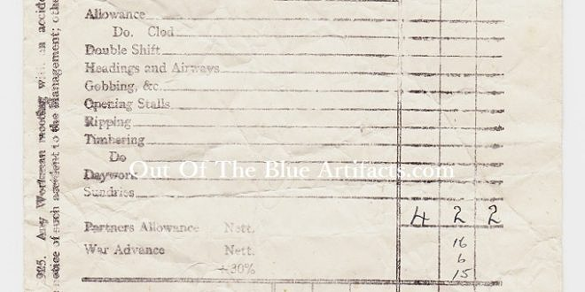 United National Collieries Ltd – Wages Docket