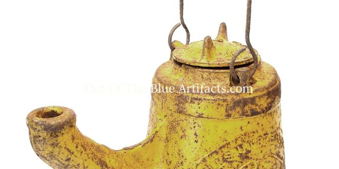 A Wells Unbreakable Oil Lamp No18