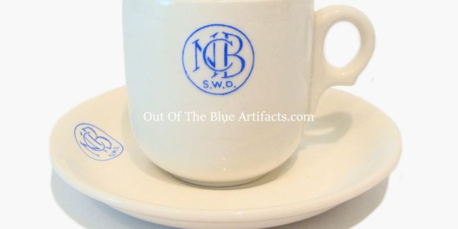 N.C.B. Colliery Canteen China Cup and Saucer