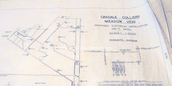 Oakdale Colliery Electrical Systems for the underground districts Blue Prints