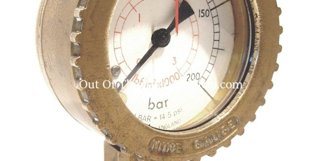A Conflow Mining Pressure Gauge
