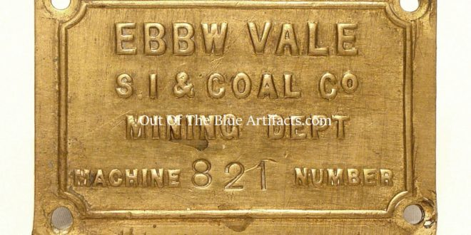 Ebbw Vale Steel Iron & Coal Company Brass Name Plate