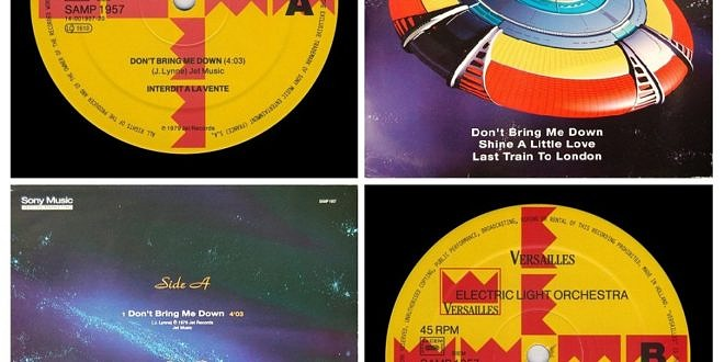 DON'T BRING ME DOWN/SHINE A LITTLE LOVE – LAST TRAIN TO LONDON…….FRANCE 12″ INCH SINGLE