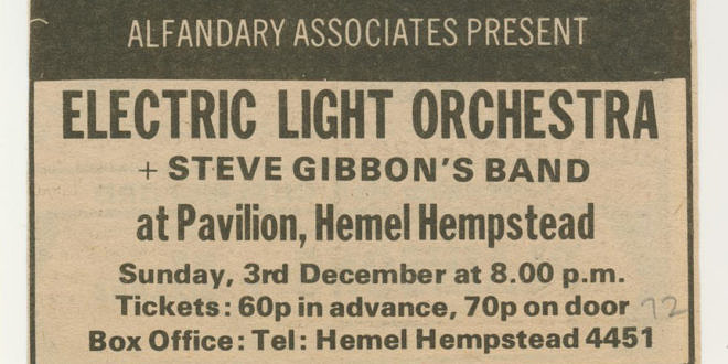 Electric Light Orchestra Tour 1972