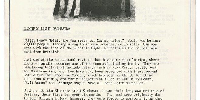 Electric Light Orchestra Bio 1976