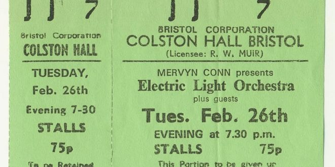 The Electric Light Orchestra – On The Third Day UK Tour 1973-74