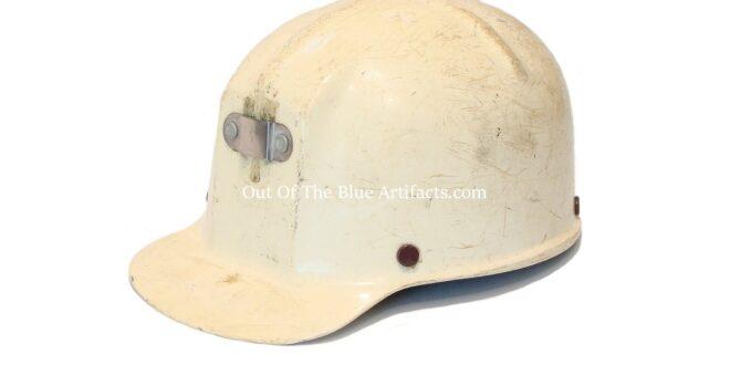 A White Plastic USA Miners Helmet