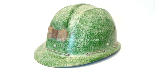 Green Fibreglass UK Miners Helmet
