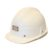 A White Plastic UK Miners Helmet N.C.B.
