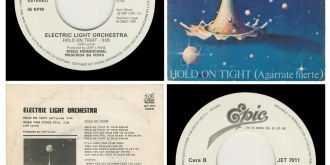 HOLD ON TIGHT/WHEN TIME STOOD STILL…….SPAIN  (PROMO)
