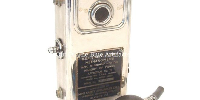 A Miners Methaneometer Gas Tester