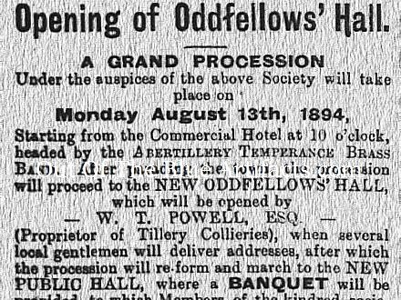 Oddfellows Hall – Abertillery