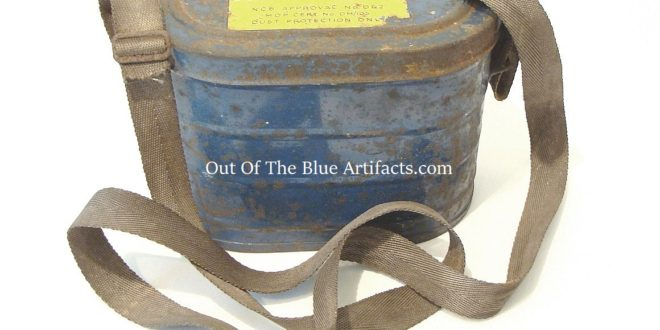 A Miners Dust Mask Container
