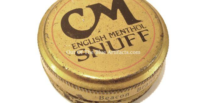 C M Snuff Tin