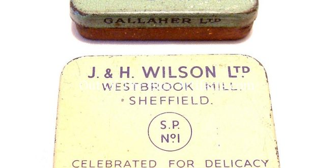 Two Old Snuff Tins – Gallaher Ltd and Wilson Ltd