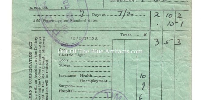 Powell Duffryn Associated Collieries Ltd – Wages Docket