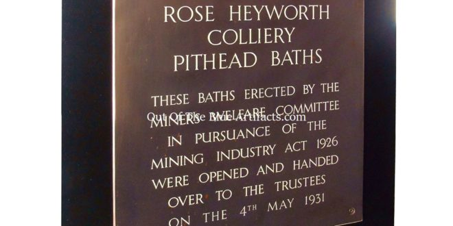 The Rose Heyworth Colliery Pithead Baths – Opening Ceremonial Plaque