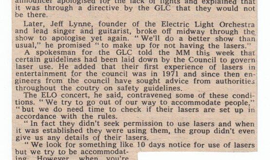 New Victoria Theatre – Sunday 20th June 1976