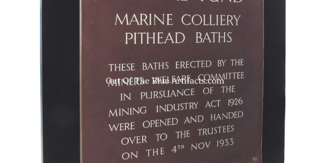 The Marine Colliery Pithead Baths – Opening Ceremonial Plaque