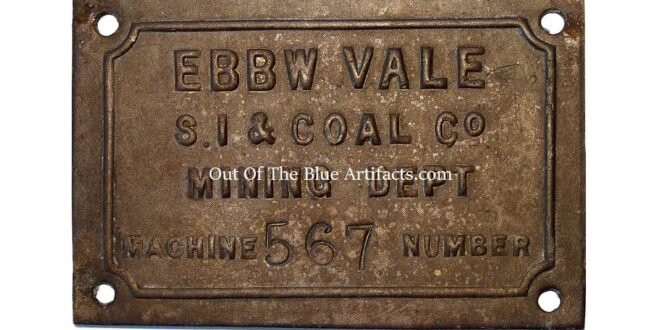 Ebbw Vale Steel Iron & Coal Company Bronze Name Plate