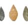 Three Neolithic Stone Arrowhead Points