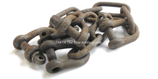 A Pair of Colliery Dram or Tub Shackles