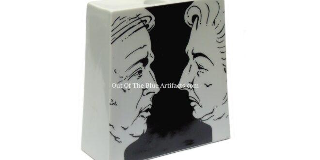 Arthur Scargill and Margaret Thatcher Candle Holder – Miners Strike 1984-1985