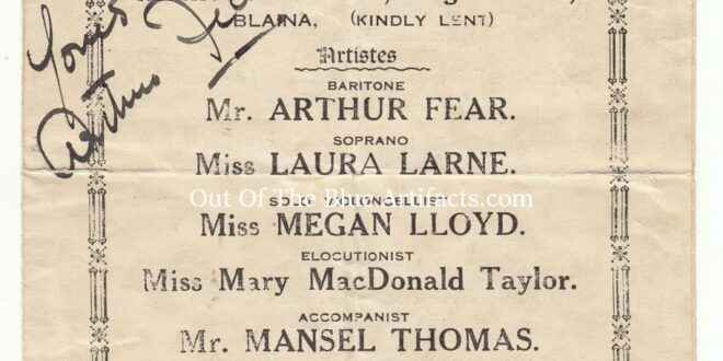 A Celebrity Concert Programme – Blaina 1933