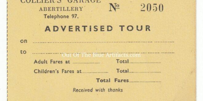 Colliers Garage Tour Bus Ticket – Abertillery