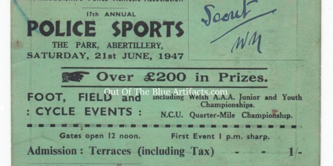 Monmouthshire Police Athletic Association – Admission Ticket